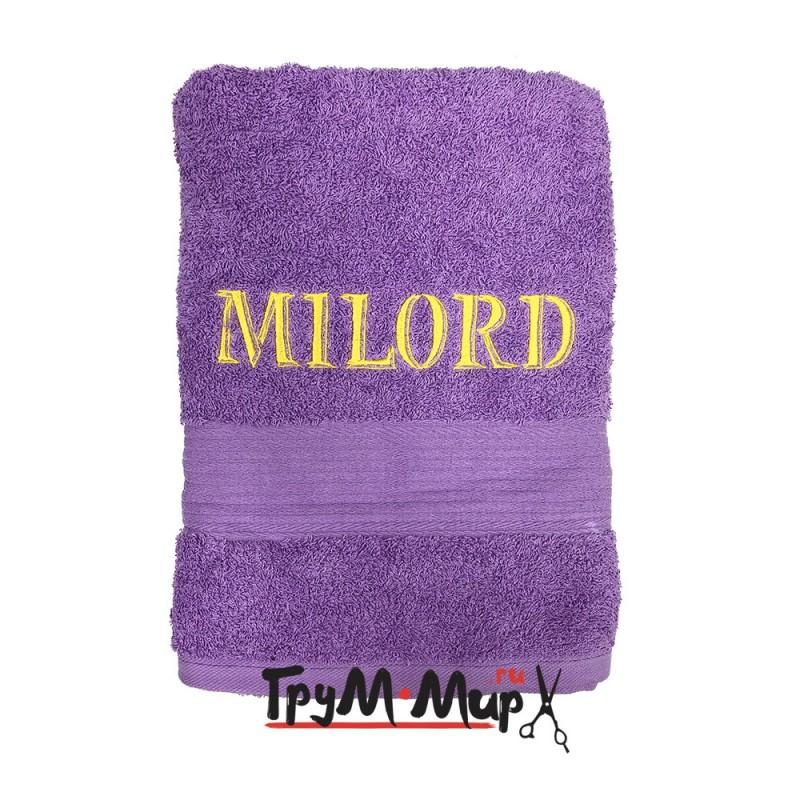Полотенце MILORD сиреневое